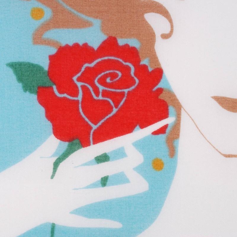 mouchoir adèle détail femme 100% coton 45cm